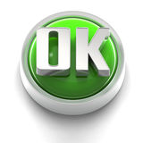 Button Icon: OK Stock Image