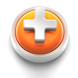 Button Icon: Plus Stock Image