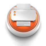 Button Icon: Printer Royalty Free Stock Photography