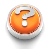 Button Icon: Question royalty free illustration