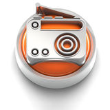Button Icon: Radio Stock Photography