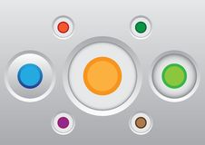 Button icon set Royalty Free Stock Photos