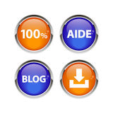 Button icon set 3D internet web bouton Stock Images