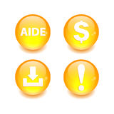 Button icon set 3D internet web site Stock Photos