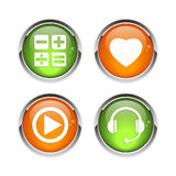 Button icon set 3D web bouton  Royalty Free Stock Photos