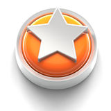 Button Icon: Star. 3D rendered illustration of button icon with Star symbol Royalty Free Stock Images