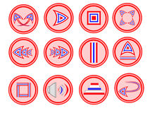Button icon thai Royalty Free Stock Images