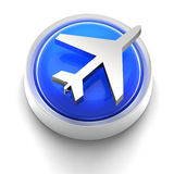 Button Icon: Travel Stock Image