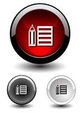 Button icon Stock Photos
