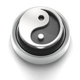 Button Icon: Yin Yang Stock Photography