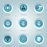 Button icons contacts. Internet communications Royalty Free Stock Image