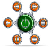 Button icons for media Royalty Free Stock Images