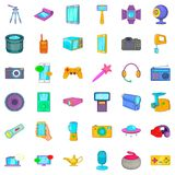 Button icons set, cartoon style Stock Images