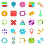 Button icons set, cartoon style Stock Photography