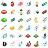Button icons set, isometric style Royalty Free Stock Photos