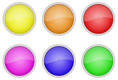 Button icons set. Vector file of Button icons set Royalty Free Stock Photos