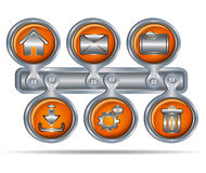 Button icons for website Royalty Free Stock Photography