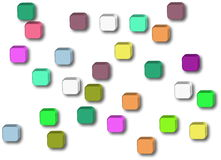 Button icons on white background Royalty Free Stock Photography