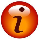 button ikony informacji Fotografia Stock