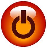 button ikony moc Obraz Stock