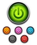 button ikony moc Zdjęcie Royalty Free