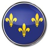 Button of the Ile-de-France Royalty Free Stock Photos