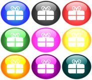 Button illustration Stock Image