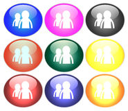 Button illustration royalty free stock images