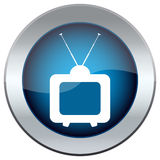 Button with the image of the TV Royalty Free Stock Photos