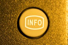 Button info rubber from the remote control. tv stock photography