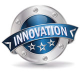 Button Innovation. An good informations Stock Photos