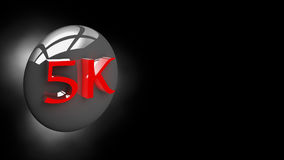 Button 5K in 3D illustration stock photos