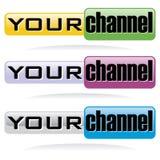 button kanalrengöringsduken dig vektor illustrationer