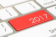 2017 button on the keyboard. 3D rendering stock illustration