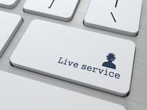 Button on Keyboard: Live Service. Button on Modern Computer Keyboard: Live Service vector illustration
