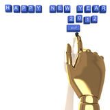 Button keyboard showing new year & Xmas Stock Photo