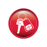 Button with keys and keychain. Vector illustration Royalty Free Stock Images