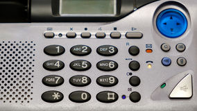 Button landline phone with answering machine.  stock photography