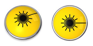 Button Laser Warning Symbol Royalty Free Stock Photo