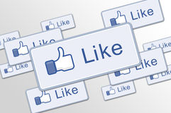 Free Button Like Facebook Stock Photography - 25756922