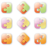 Button-like puzzle Royalty Free Stock Photo