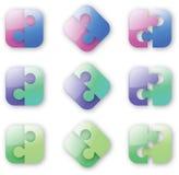 Button-like Puzzlespiel Stockfoto