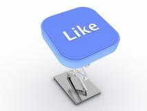 button liken Fotografering för Bildbyråer