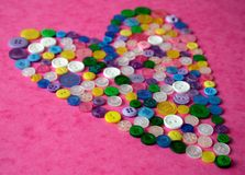 Button love Stock Images