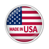 Button - MADE IN USA Stock Photos