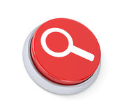 Button with magnify glass Royalty Free Stock Image