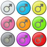BUTTON - MALE royalty free stock images