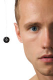 Button & man Royalty Free Stock Image