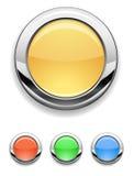 Button. Metallic button- creative design elements Stock Image