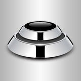 Button metallic. Button glossy chrome metallic, vector design Royalty Free Stock Image